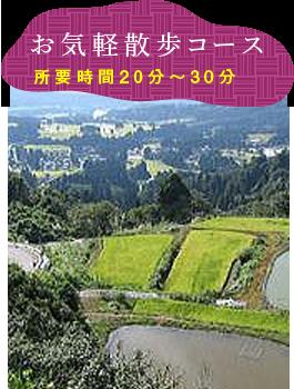 お気軽散歩コース(所要時間:約20分〜30分)