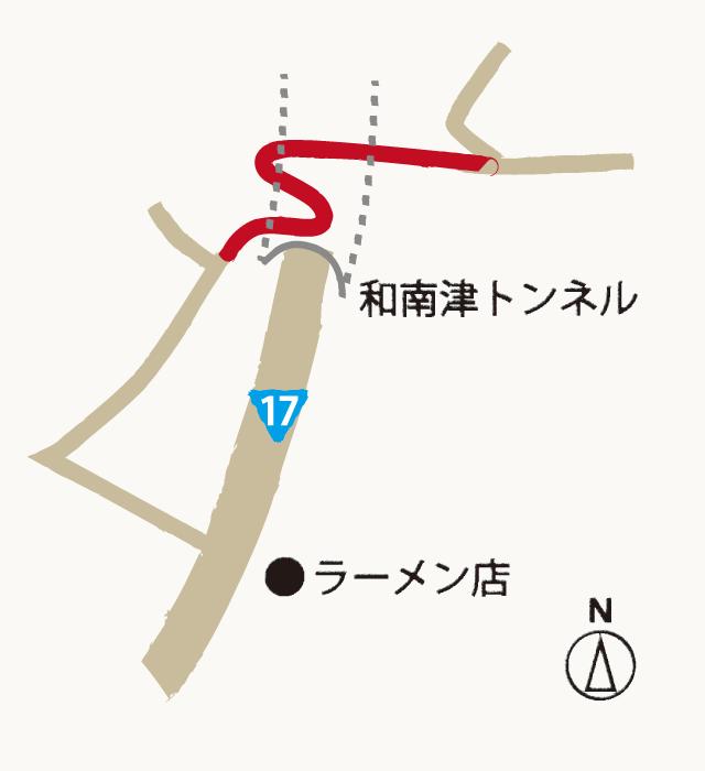 和南津絆の道の地図