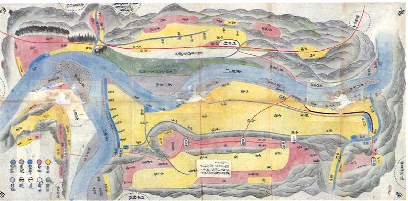 川口村耕地絵図