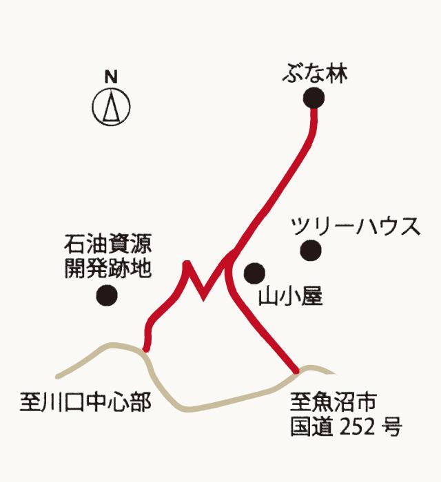 手作り村相川の地図