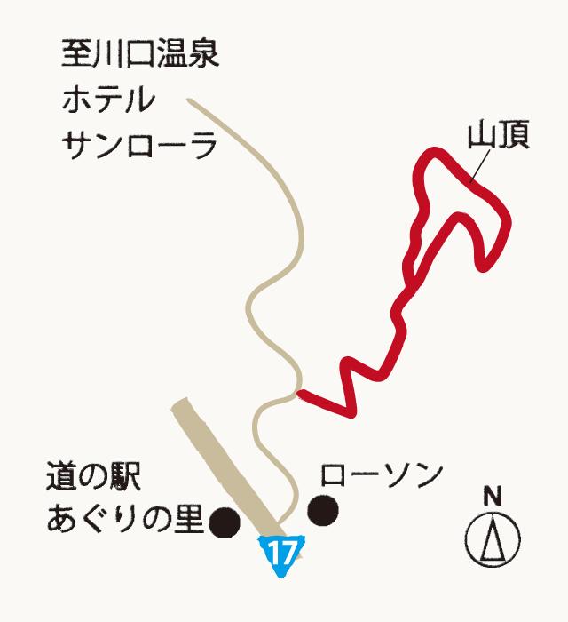 中山さんご山の地図
